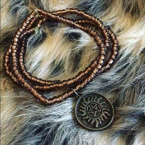 Supernatural Brown Beaded Bracelet Set